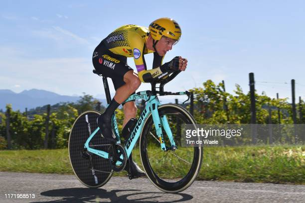 George Bennett of New Zealand and Team Jumbo-Visma / during the 74th Tour of Spain 2019, Stage 10 a 36,2 Individual Time Trial stage from Jurançon to...
