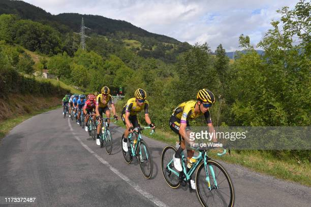 George Bennett of New Zealand and Team Jumbo-Visma / Neilson Powless of The United States and Team Jumbo-Visma / Robert Gesink of The Netherlands and...