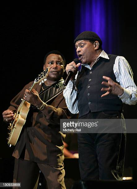 George Benson and Al Jarreau during George Benson and Al Jarreau Concert at the Bellville Velodrome March 22 2007 at Bellville Melodrome in Cape Town...