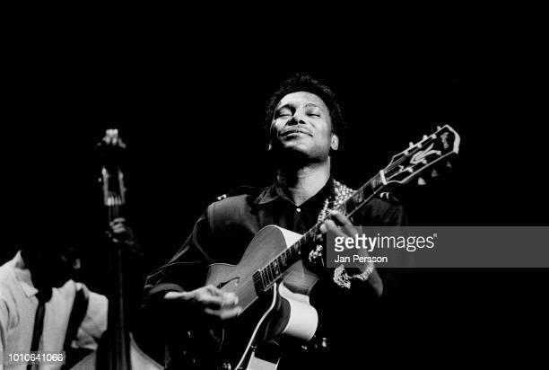 George Benson performing in Aarhus Denmark July 1989 American guitarist and singer