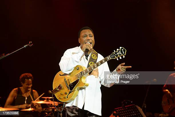 George Benson performs at Tollwood Festival on July 15 2013 in Munich Germany