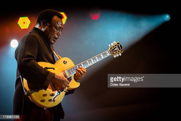 George Benson performs on stage at Nice Jazz Festival on July 12 2013 in Nice France