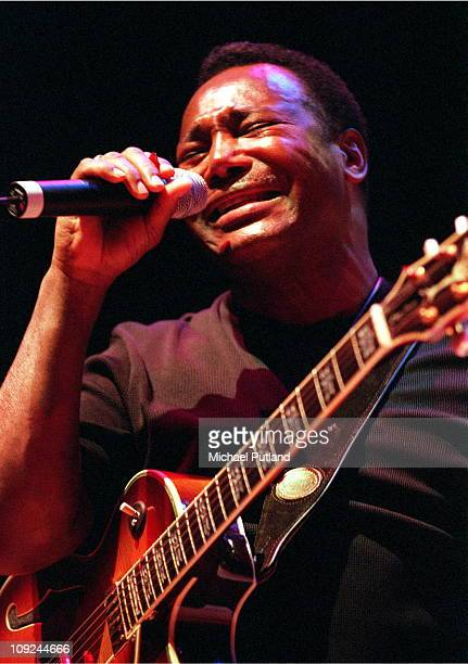 George Benson performs on stage at Ronnie Scott's Charity Gala London 1999