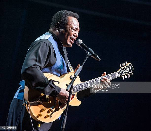 George Benson performs on stage at Symphony Hall on June 22 2014 in Birmingham United Kingdom