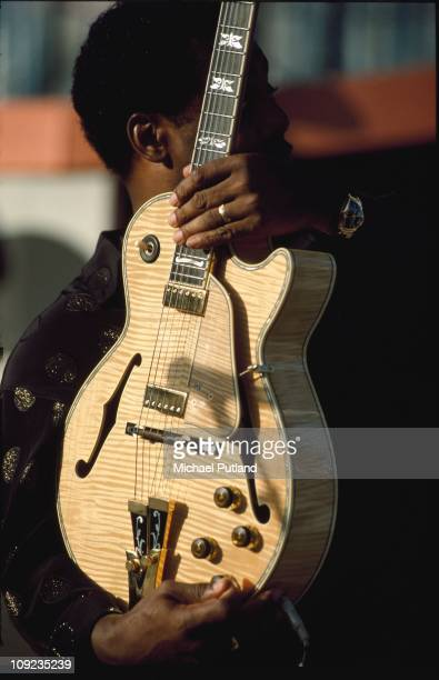 George Benson performs on stage in Seville Spain 1991