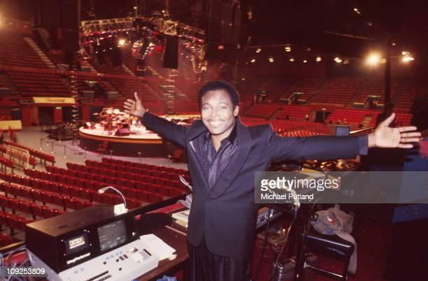 George Benson performs on stage United Kingdom 1986