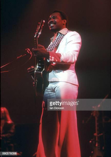 George Benson performs on stage United Kingdom circa 1975
