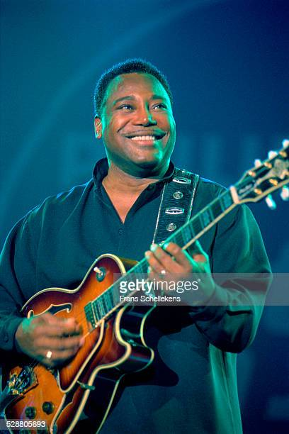 George Benson singer and guitarist performs on July 14th 2001 at the North Sea Jazz Festival the Hague Netherlands
