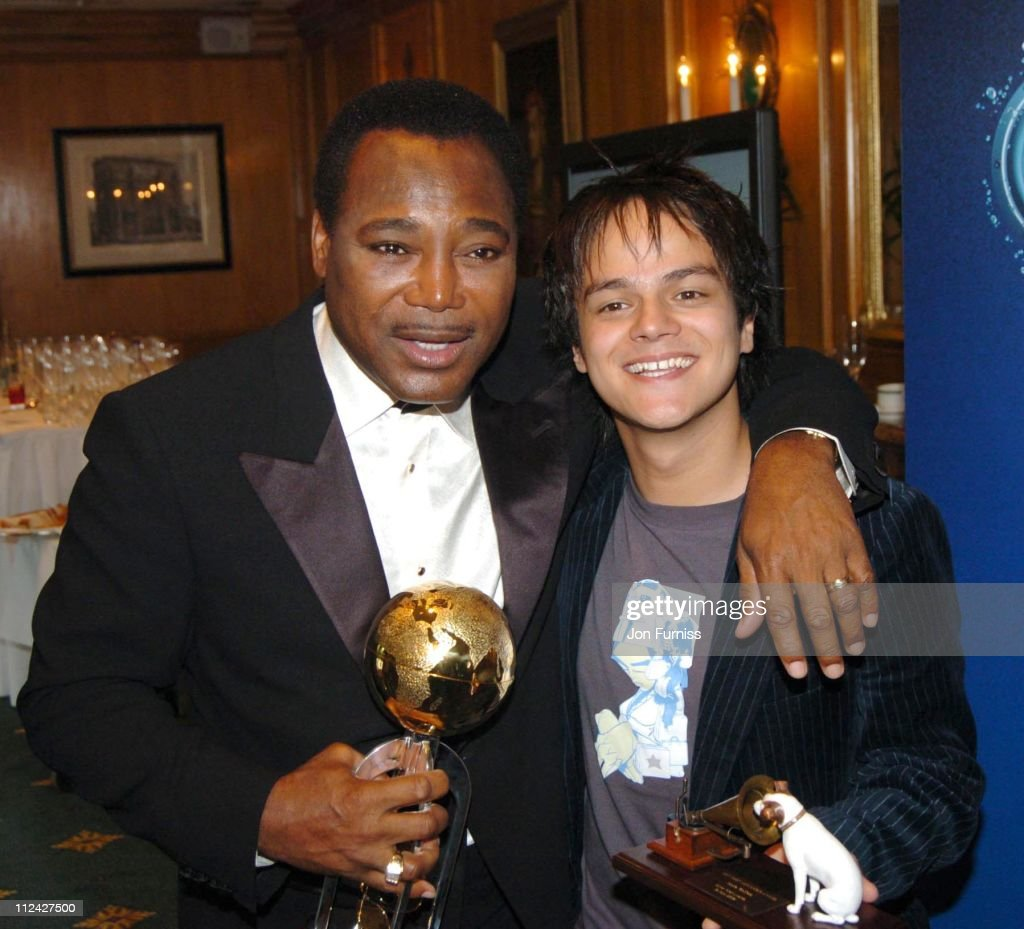 George Benson, winner of the Raymond Weil International Award and Jamie Cullum, winner of the Best New Music Award