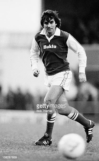 George Best of Hibernian during the Hibernian v Partick Thistle Division 1 match played at Hibernian Scotland on the 1st December 1979 Hibernian won...