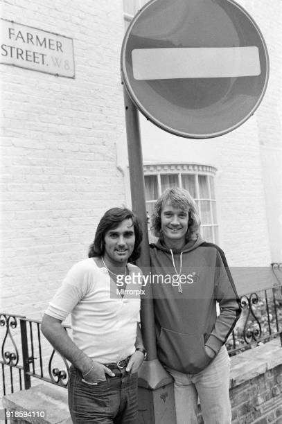 George Best plays for Fulham pictured with other new signing from America Rodney Marsh 2nd September 1976