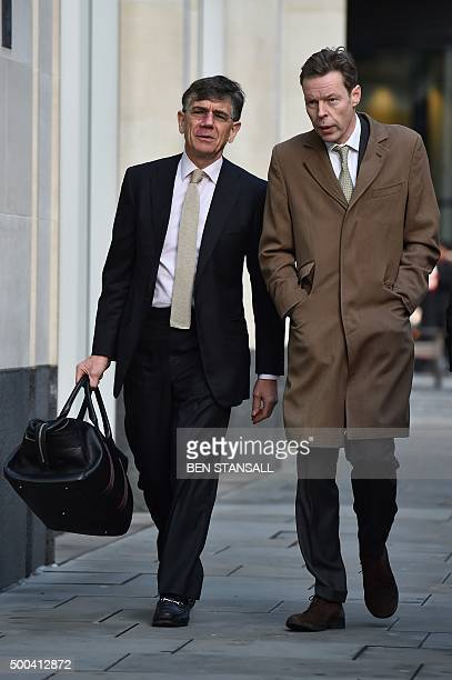 George Bingham the only son of Lord Lucan arrives at the High Court in central London on December 8 2015 Bingham is at court in a bid to obtain a...