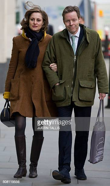 George Bingham the only son of the infamous British aristocrat Lord Lucan arrives with his wife AnneSofie Foghsgaard at the High Court in central...