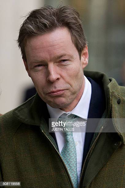 George Bingham the only son of the infamous British aristocrat Lord Lucan arrives at the High Court in central London on February 3 2016 The infamous...