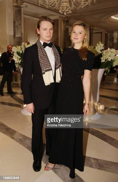 George Birch and Amber Atherton arrive at the launch of the Four Seasons Hotel Baku on November 17 2012 in Baku Azerbaijan