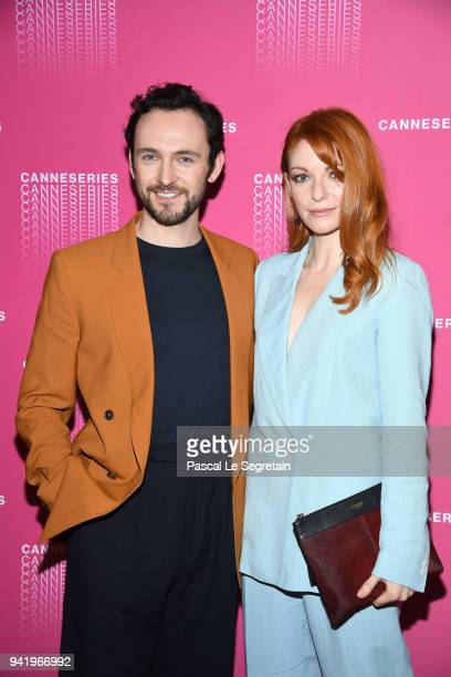 George Blagden and a guest attend the Opening Ceremony and 'Versailles Season 3' screening during the 1st Cannes International Series Festival at...