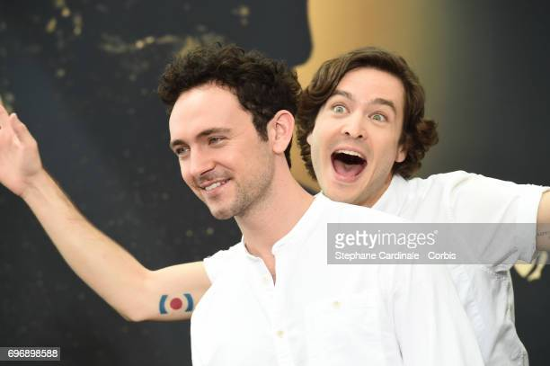 George Blagden and Alexander Vlahos from 'Versailles' pose for a Photocall during the 57th Monte Carlo TV Festival Day Two on June 17 2017 in...