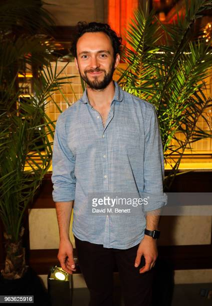 George Blagden attends the press night after party for 'Tartuffe ' at Savini at Criterion on May 29 2018 in London England