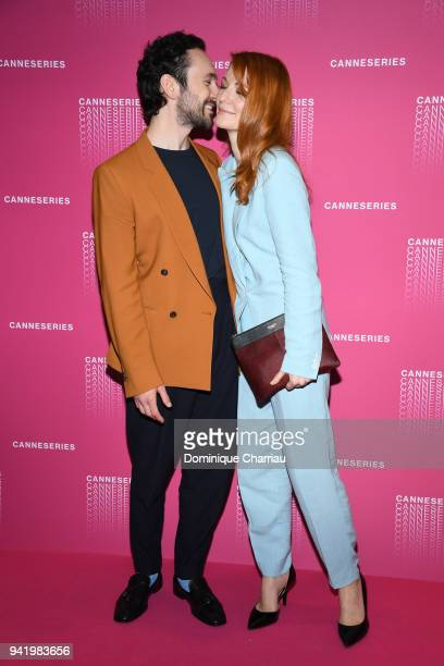 George Blagden from the 'Versailles' tv show attends opening ceremony of the 1st Canneseries Festival on April 4 2018 in Cannes France