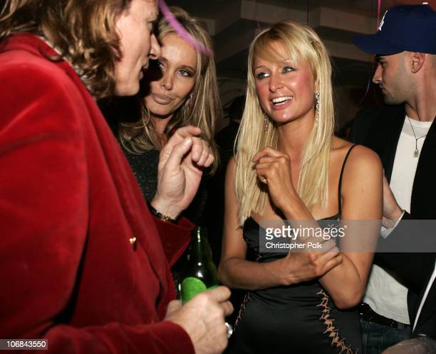 George Blodwell Christine Peters and Paris Hilton **Exclusive**