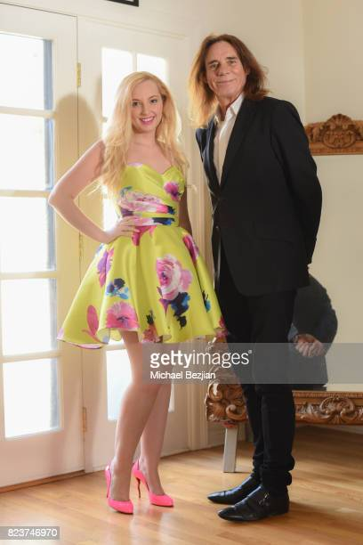 George Blodwell styles Alexis Nolan at The Artists Project TAP Style House on July 26 2017 in Los Angeles California