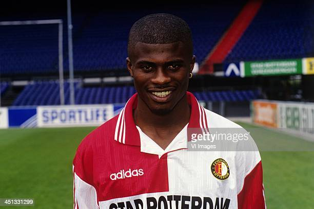 George Boateng during the team presentation of Feyenoord in 1996 in Rotterdam The Netherlands