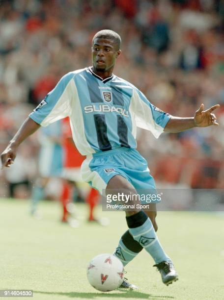 George Boateng of Coventry City in action during the FA Carling Premiership match between Charlton Athletic and Coventry City at The Valley on...