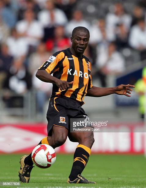 George Boateng of Hull in action during the Barclays Premier League match between Hull City and Fulham at the KC Stadium in Hull on the 16th August...