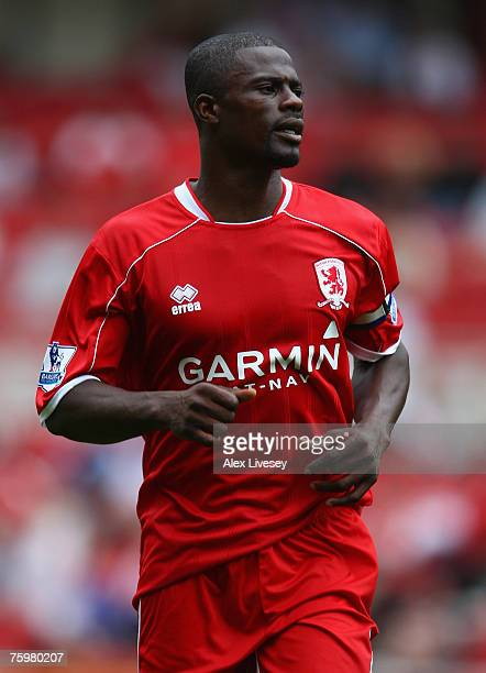 George Boateng of Middlesbrough during the preseason friendly match between Middlesbrough and AZ Alkmaar at the Riverside Stadium on August 4 2007 in...