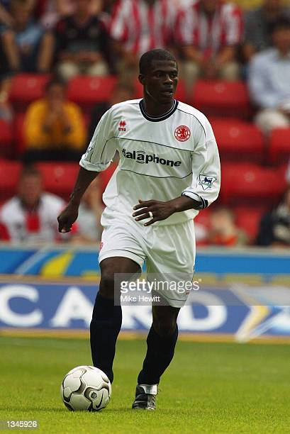 George Boateng of Middlesbrough in action during the Barclaycard Premiership match between Southampton and Middlesbrough at the St Mary's Stadium...