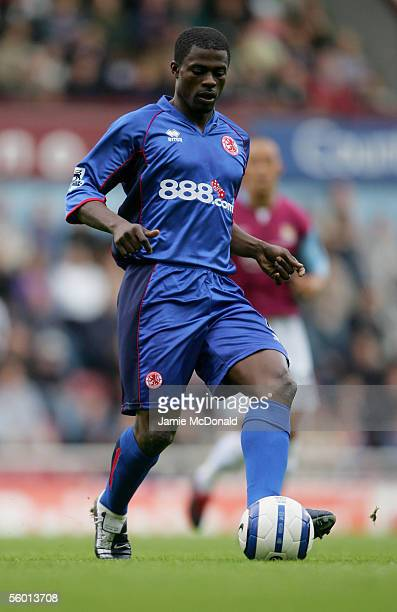 George Boateng of Middlesbrough in action during the FA Barclays Premiership match between West Ham United and Middlesbrough at Upton Park on October...