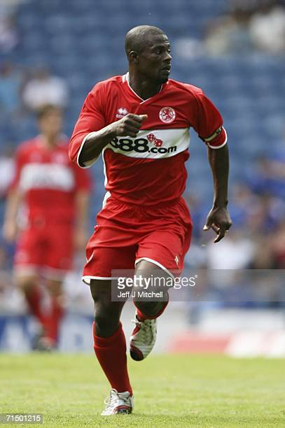 George Boateng of Middlesbrough in action during the friendly match between Rangers and Middlesbrough at Ibrox Stadium July 22 2006 in Glasgow...