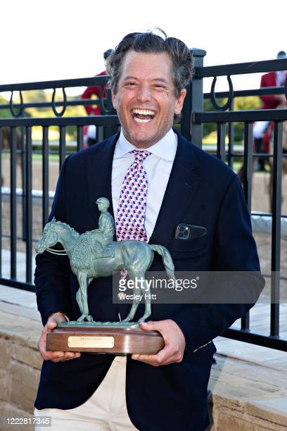 George Bolton coowner of Nadal smiles after after his horse wins the 84th running of The Arkansas Derby Grade 2 at Oaklawn Racing Casino Resort on...