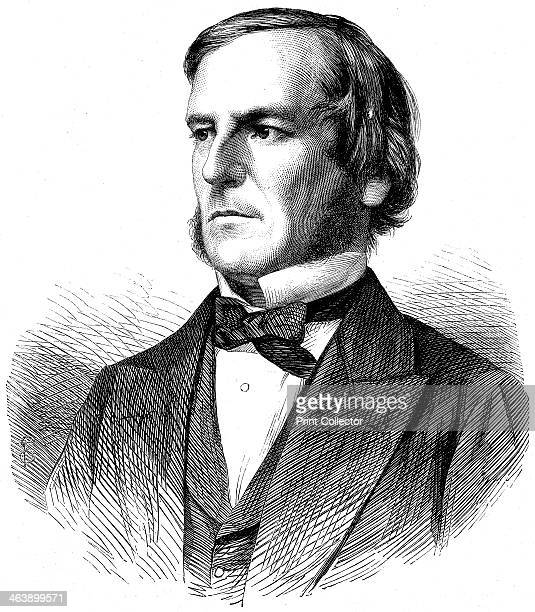 George Boole . English mathematician and logician, 1865. Wood engraving.