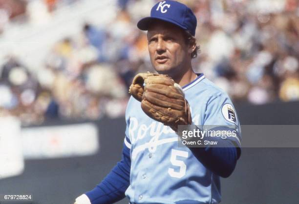 BALTIMORE MD George Brett of the Kansas City Royals circa 1983 against the Baltimore Orioles at Memorial Stadium in Baltimore Maryland