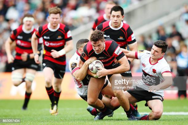 George Bridge of Canterbury charges forward during the round six Mitre 10 Cup match between North Harbour and Canterbury at QBE Stadium on September...