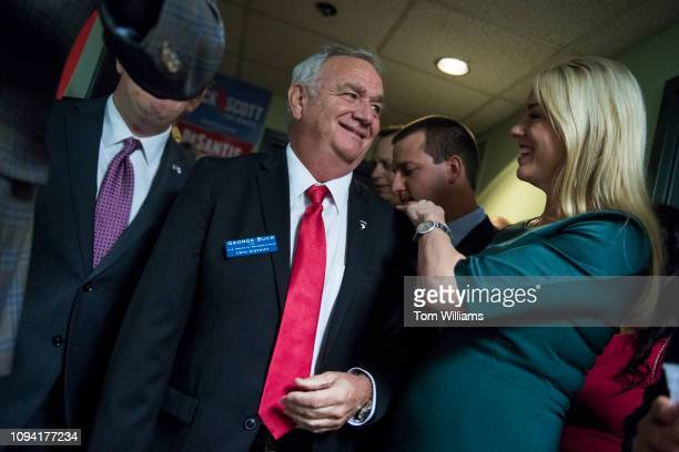 George Buck republican candidate for Florida's 13th Congressional District attends a rally at the Hillsborough County Republican Party office in...
