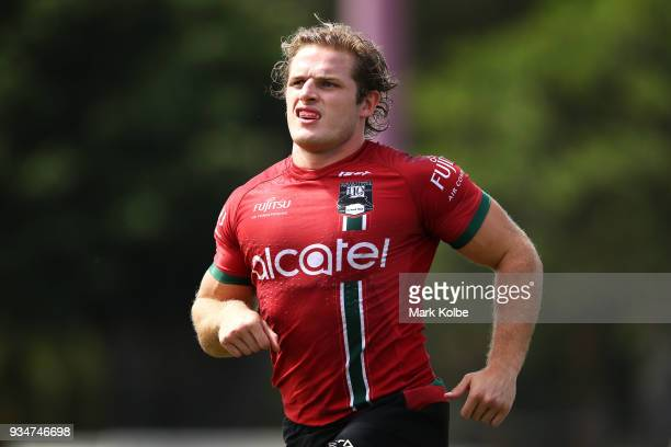 George Burgess runs during a South Sydney Rabbitohs NRL Training Session at Redfern Oval on March 20 2018 in Sydney Australia