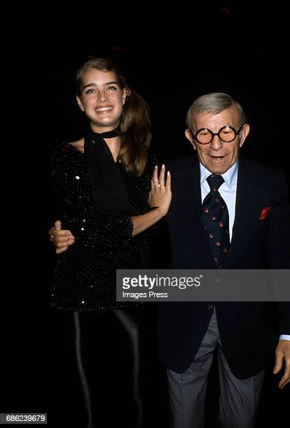 George Burns and Brooke Shields celebrating 'Just You and Me Kid' at Studio 54 circa 1979 in New York City
