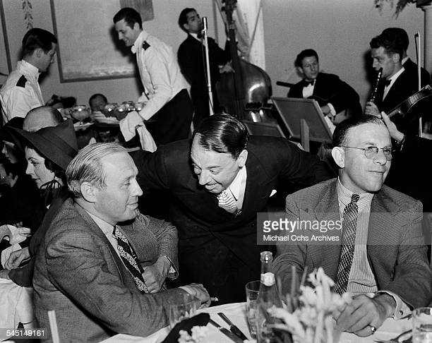 George Burns and Jack Benny attend an event in Los Angeles California