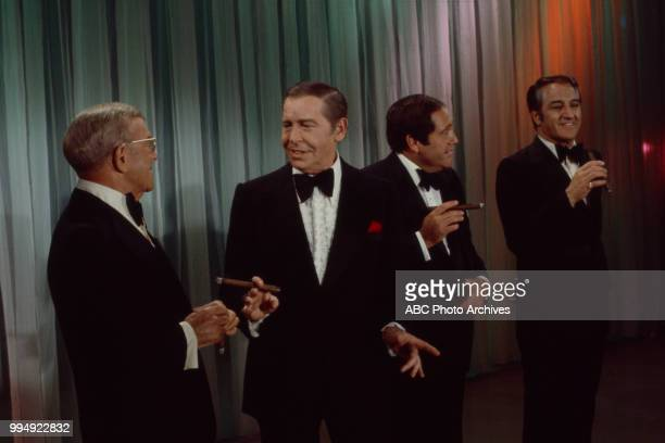 George Burns Milton Berle Alan King Danny Thomas appearing on 'The Many Faces of Comedy'