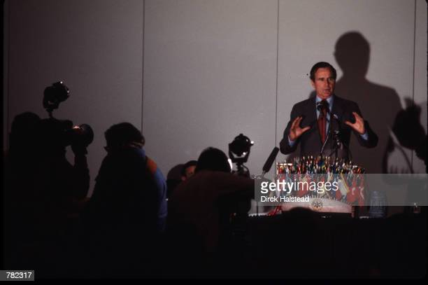 George Bush speaks with reporters January 5 1980 in Iowa On January 20 1981 he took the oath as Vice President of the United States for the first of...