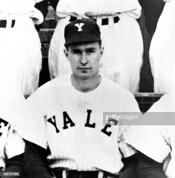 George Bush was captain of championship Yale baseball team while completing college in 21/2 years after war service Phi Beta Kappa Economics in 1948