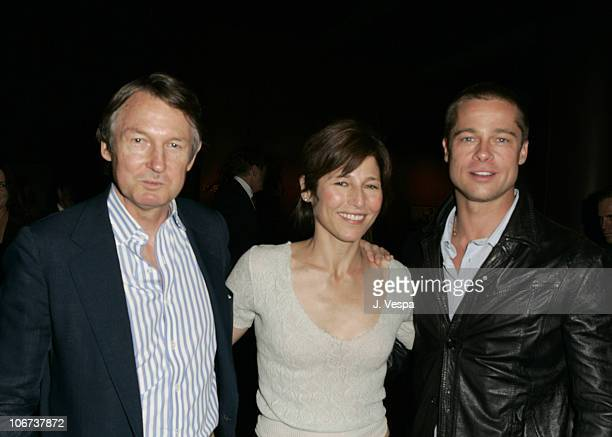 George Butler Catherine Keener and Brad Pitt attend the Palisades Pictures screening of Going Upriver The Long War of John Kerry to kick off its...
