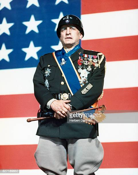 George C Scott in Patton