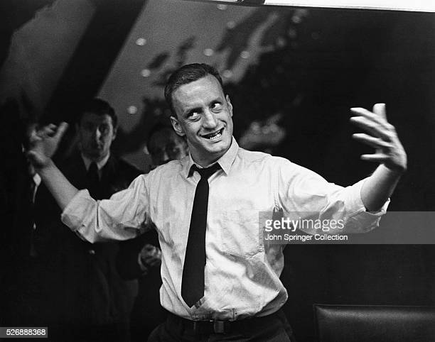 George C. Scott plays the role of General Buck Turgidson in the 1964 film Dr. Strangelove or: How I Learned to Stop Worrying and Love the Bomb.