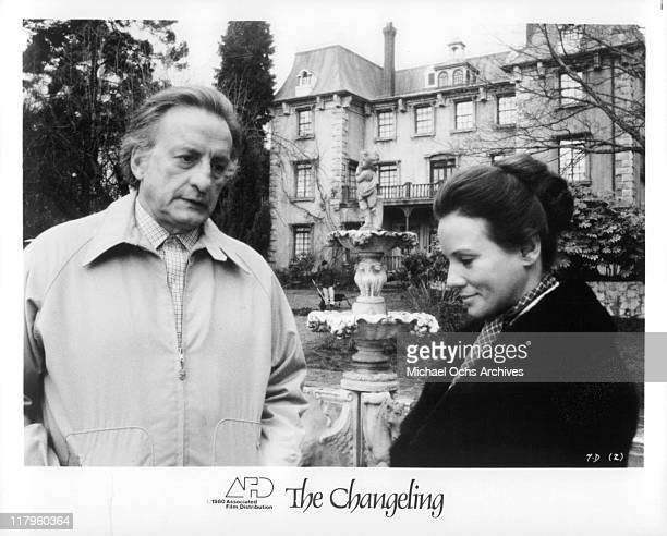 George C Scott rents old Victorian Mansion from Trish Van Devere in a scene from the film 'The Changeling' 1980