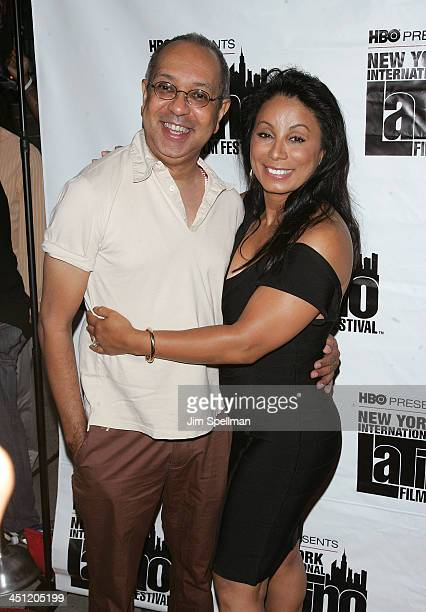 George C Wolf and Actress Wanda De Jesus attend the premiere of The Ministers during the 9th annual New York International Latino Film Festival at...