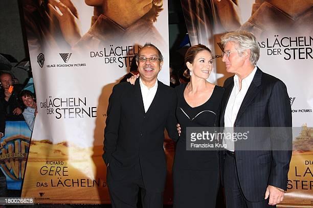 """George C. Wolfe, Diane Lane Und Richard Gere Bei Der Premiere Von """"Das Lächeln Der Sterne"""" Im Cinestar In Berlin ."""