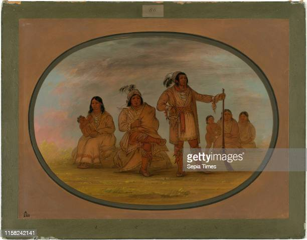 George Catlin Osceola and Four Seminolee Indians American 1796 1872 18611869 oil on card mounted on paperboard